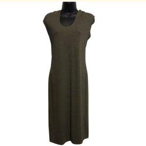 Max Studio Dresses - Max Studio olive green Hoody Dress